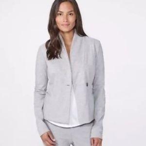 JAMES PERSE Gray Cotton Knit Blazer Jacket Sm 1